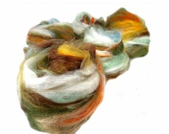 "Tour De Fleece SALE fiber art batt, PHAT FIBER, August 2013, Entomology, fiber art batt for felting or spinning, ""Suriname"""