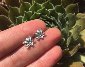 Lotus Flower Studs Yoga Jewelry Lotus Earings in Sterling Silver Posts