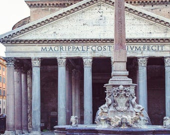 "Art Print of the Pantheon in Rome Italy, Rome Photography, Italy Wall Art, Architecture Print, Fine Art Photography ""Antiquities"""
