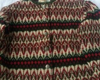 HANS HEITSCH Sweden Icelandic Wool Jersey Modeller SWEATER Cardigan 1960s