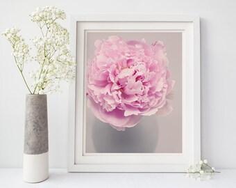 Peony Print, Wall Art Floral, Bedroom Wall Art, Flower Photography, Nursery Wall Art, Living Room Wall Decor, Home Decor, Art Print