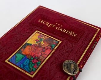 Book Clutch Purse - The Secret Garden- made from recycled vintage book by Rebound Designs