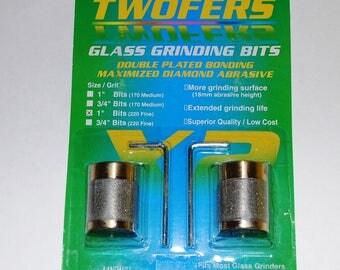 Aanraku Twofers – 1 inch FINE Grinder Bits – 220 Grit FINE // Includes 2 BITS // fits most grinders