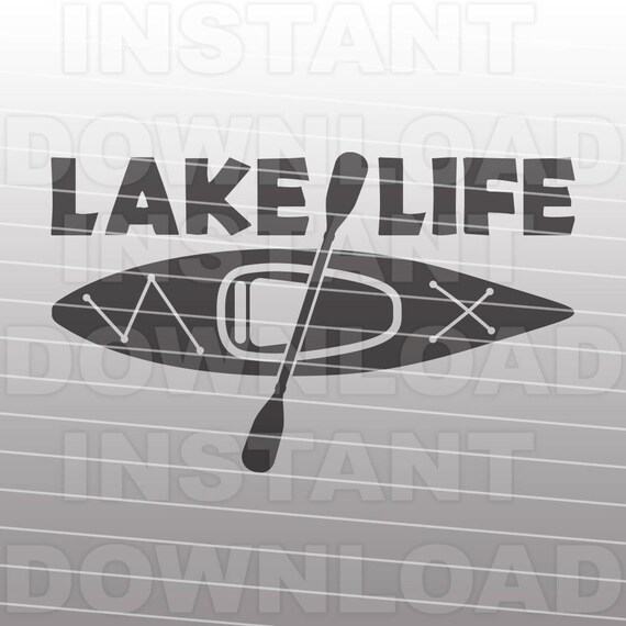 Download Lake Life with Kayak SVG FileKayaking SVG File Vector Clip