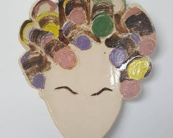Roller Girl Ceramic Dish