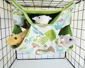 Rat Hammock,Rat Cage accessory,Small Honey Comb,Rat accessory,Small animal Hammock,Small Pet Hammock,Pet Rat Bed,Fleece Hammock