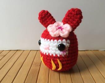 Cute Daruma Moon Bun - Amigurumi Bunny Rabbit Doll