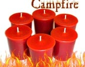 6 Campfire Votive Candles Woodsy Earthy Smoky Scent
