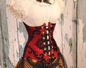 HOURGLASS SALE Waist 32-34 Red & Black Grace Wench Corset