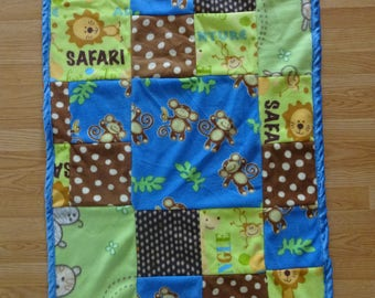 Safari patchwork infant/toddler fleece blanket