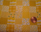 Quarter yard VINTAGE fabric faux quilt tiny Blythe doll dress sewing quilting crafting