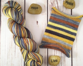 History Has Its Eyes On You, long repeat: Hand-dyed gradient self-striping sock yarn, 80/20 SW merino/nylon