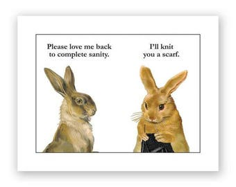 Bunny Knitting Card