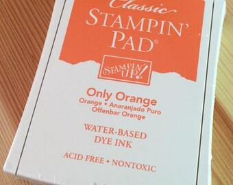 Only Orange Stampin' Up Ink Pad - Water-Based Dye Ink - Brand New in Package - NIP Unopened