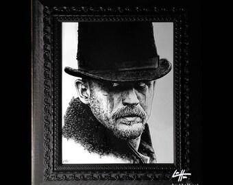 James Delaney - Original Drawing - Taboo Tom Hardy Sailor Enigma East India Company London Africa Dark Art Drama Horror Pop Art Gothic Pop
