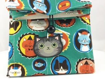 Meowy Catmas Gift Bag By For Mew, Cat Toy, Cat Tattoo, Cat Pins, Cat Lady Cat Person Gift, Christmas Gift