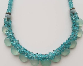Chalcedony and Apatite Necklace