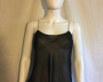 Closing Shop 40%off SALE 90s black sheer tank top camisole top