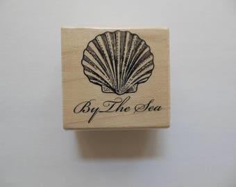 Shell Rubber Stamp - Seashell Collection - Wood Mounted Rubber Stamp