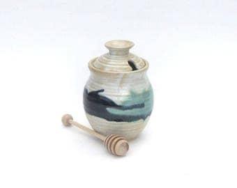 Honey Pot with Dipper - Rio Grande Variation  Glaze