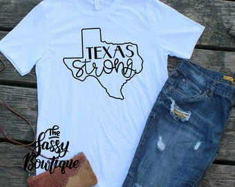 Texas Strong Bella+ Canvas Tee to benefit Hurricane Harvey Victims