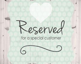 Reserved Order for sstolker
