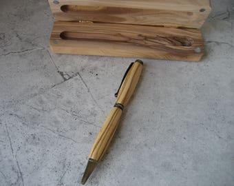 Slim Style Pen (Bethlehem Olivewood) and Bethlehem Olivewood box