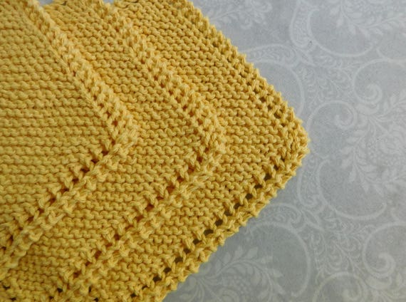 Yellow Dishcloth Trio