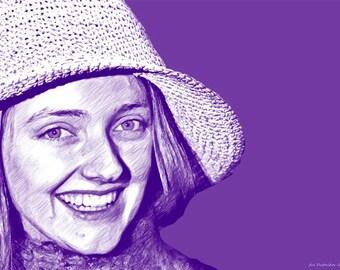 Melissa No 1. Wall art Pop art canvas female hat