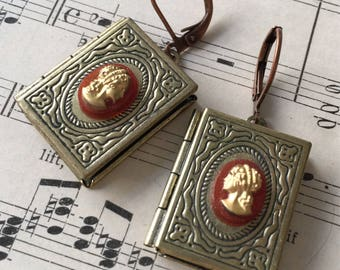 Jane Austen Book Earrings