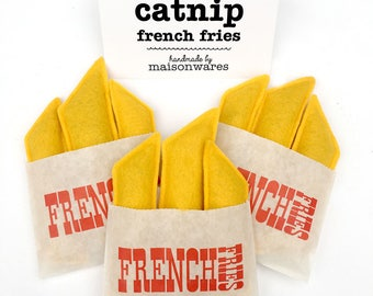 Catnip French Fries - 3 pack - cat toy, cat treat