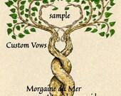 Two Trees 11x14 Custom Vows