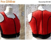 ON SALE Vintage 1970/70s German / Austrian/Tyrol dirndl corset bustier top size XS/14 years