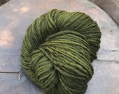 Manos del Uruguay Wool Clasica - 1 skein of 55 hunter green handspun pure wool kettle dyed yarn