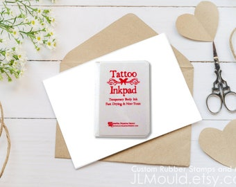 JLMould Temporary Memories Tattoo Ink Pad - Choose the Color Perfect for Stamping Skin Safe Custom Rubber Stamp