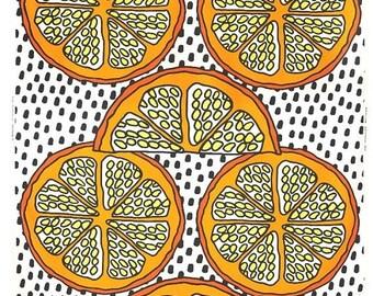 SALE - Orange - IKEA Orangelilja Cotton Fabric