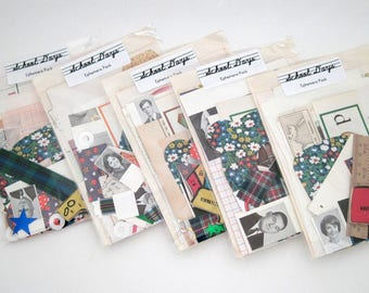 10 School Ephemera Packs - BULK wholesale - Vintage Ephemera - Altered Art Journal Kits - Mixed Media - Assemblage - Craft Supplies
