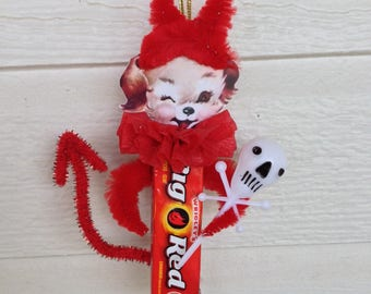 Halloween Decoration Devil Dog Chenille Halloween Decoration Halloween Ornament