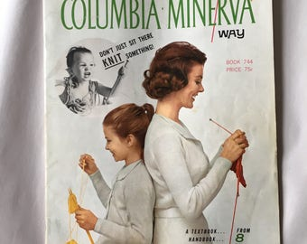 1960's Columbia Minerva Knitting Instruction Book for New Knitters age 8 to 80