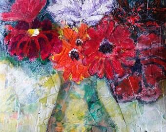 Gratitude Flowers Print