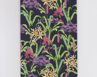 A6 Mini Notebook - Wild Flowers - Decorated with a meadow of wild flowers