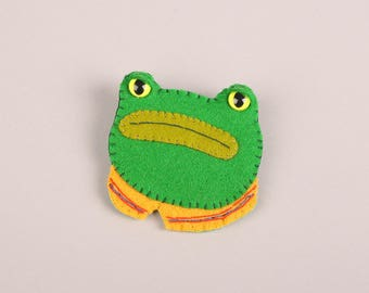 Frog Friend Brooch **Made to Order**
