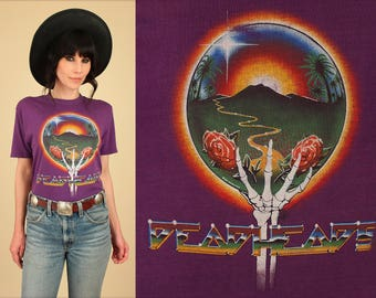 ViNtAgE 80's Grateful Dead 1983 Summer Tour T-Shirt DEADHEAD Kelly & Mouse Tee HiPPiE