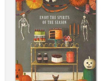 Enjoy The Spirits Of The Season. Halloween Card. SKU JH1120