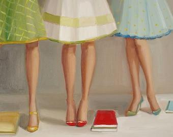 Library Ladies. Art Print
