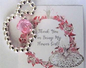 Flower Girl Bracelet, Flower Girl Gift, Wedding Party Thank You, Children's Jewelry, Girls Bracelet, Girls Jewelry, Wedding Jewelry
