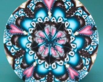 Polymer Clay Circle Kaleidoscope Cane (19ee)