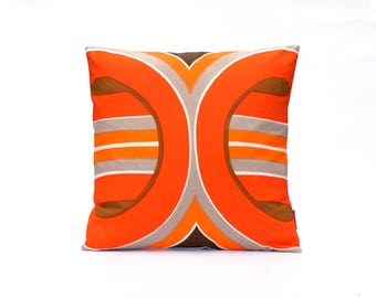 70s Pillow Cover 16x16 - Retro Cushion Cover - Modern Throw Pillow - Mid Century Couch Pillow Handmade by EllaOsix