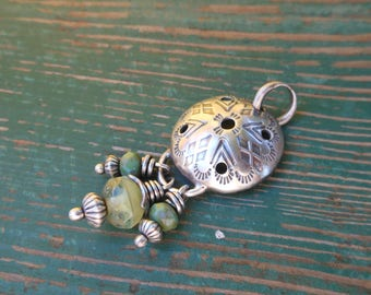 Essential Oil Diffuser Necklace - Sage Green