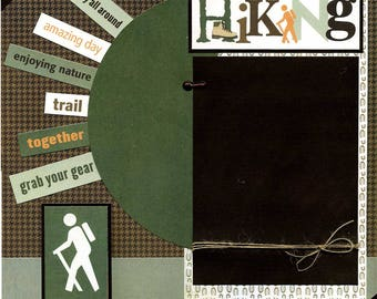 Hiking - Premade Scrapbook Page